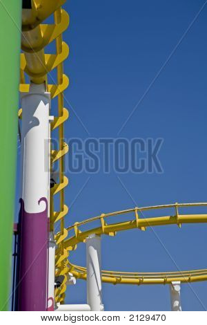Roller Coaster Track And Loop