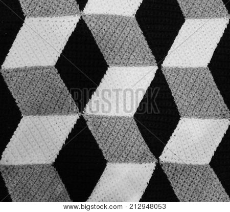 Background Made With Black And White Geometric Shapes That Look