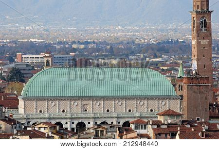 Vicenza Italy Monument Called Basilica Palladiana. The Roof In O