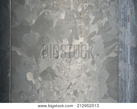 Zinc Coated Surface Of Steel  Lamps Tower. Detail Of Surface Coating Marks