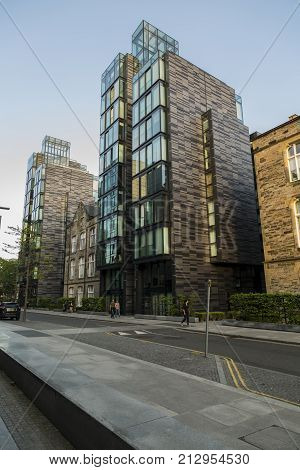 EDINBURGH SCOTLAND - 26th May 2017 - cosmopolitan appartments in the newly renoveted quarter mile area of Edinburg