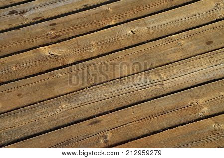 Big Brown close up of wall made of wooden planks