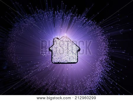 smart house home technology with fiber optic connection