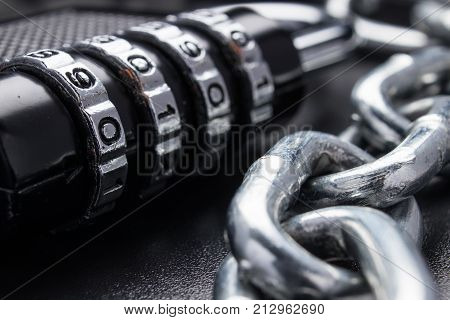 The Concept Of Closure, Protection. Technology Blockchain, Encryption Of Internet Traffic. Password