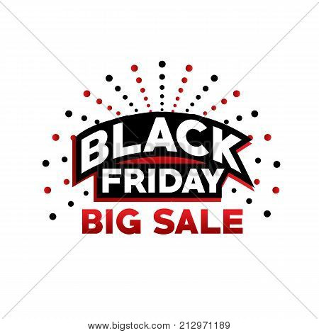 black friday big sale, black friday with dots, bold black friday sign, black friday offer vector, isolated on white background.