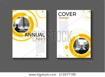 yellow background Circle modern cover design modern book cover abstract Brochure cover templateannual report magazine and flyer layout Vector a4