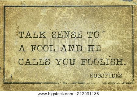 Talk Sense Euripides