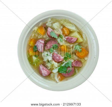 Crock Pot Andouille Sausage Cabbage Soup