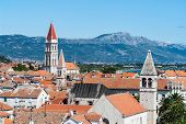 Trogir historical city - Dalmatia, Croatia. The historic city of Trogir is situated on a small island between the Croatian mainland and the island of Ciovo. poster