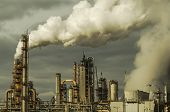 Refinery Air Pollution. Production Facility Installations. Smoking Refinery poster