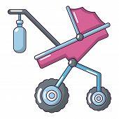 Baby carriage classy icon. Cartoon illustration of baby carriage classy vector icon for web poster