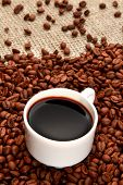 Coffee coffee beans coffee cup caffeine drink cup of coffee hot drink poster