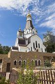 Cathedral of Saint Righteous Warrior Feodor Ushakov in settlement Kudepsta, Sochi, Krasnodar region, Russia poster
