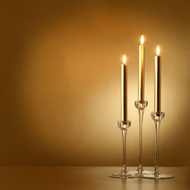 Three Gold Candles