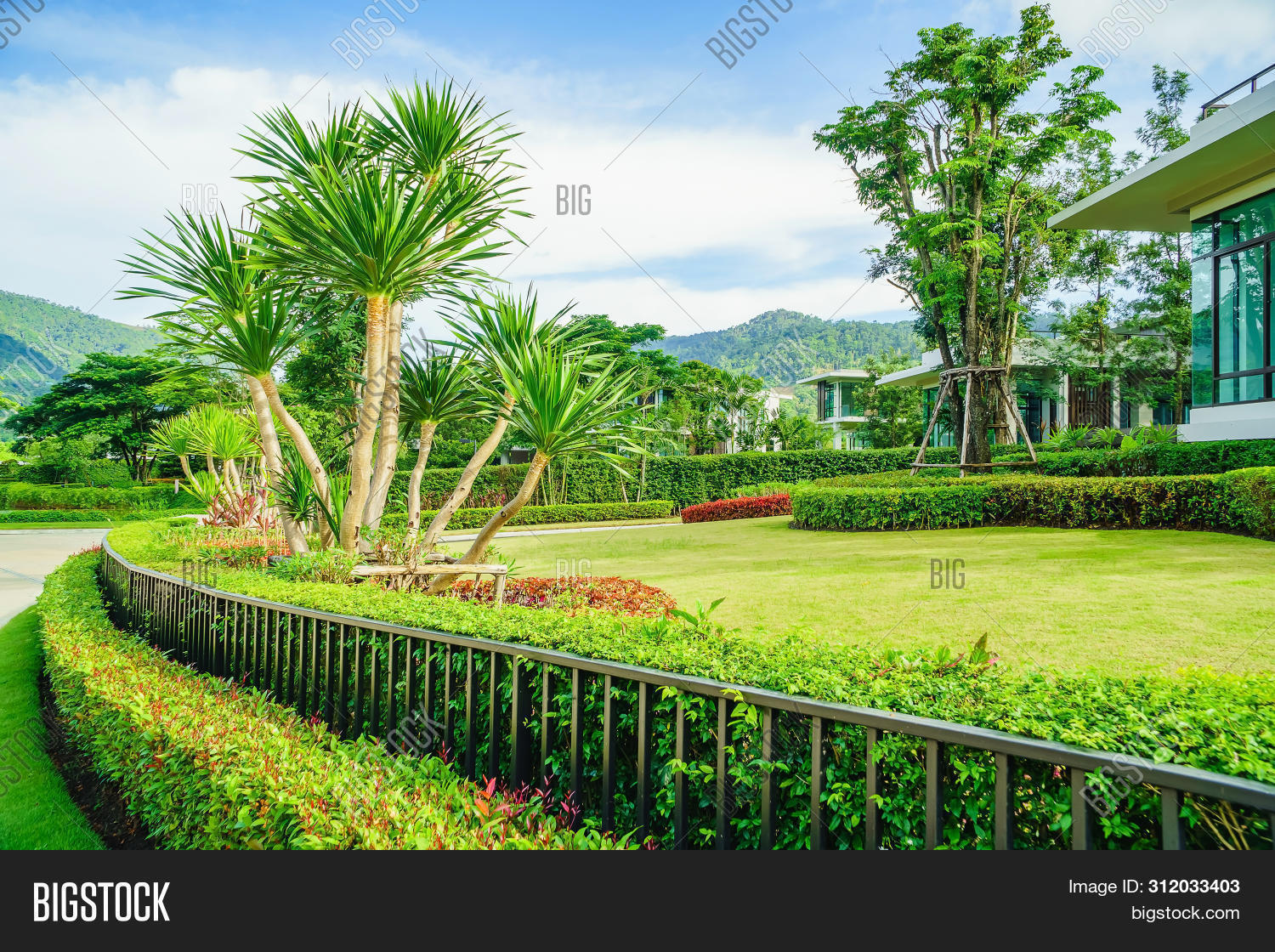 Lawn Front House Image Photo Free Trial Bigstock
