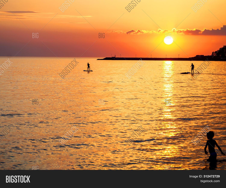 Sunset Silhouette Image Photo Free Trial Bigstock