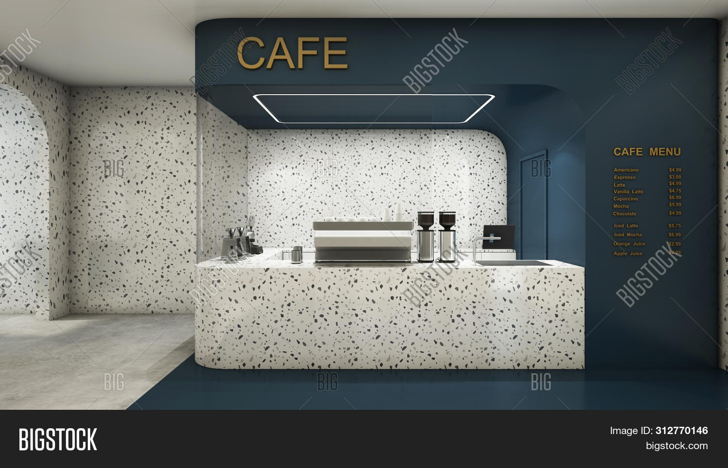 Front View Cafe Shop Image Photo Free Trial Bigstock