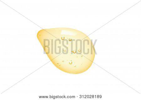 Acid Serum Swatch. Retinol, Vitamin C Hyaluronic Acid Cream Drop. Cosmetic Clear Liquid Gel Texture