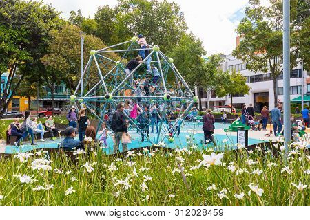 Bogota, July 6  Polygon Play Area In The  Newest Area Of Bogota That  Houses Modern Architectures An