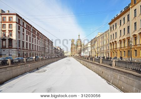 Griboedov Canal In St-petersburg, Russia