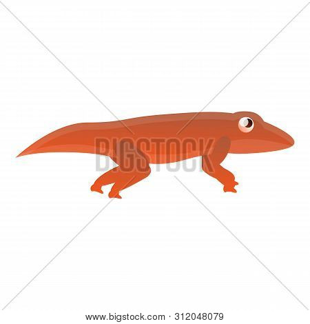 Red Reptile Icon. Cartoon Of Red Reptile Vector Icon For Web Design Isolated On White Background