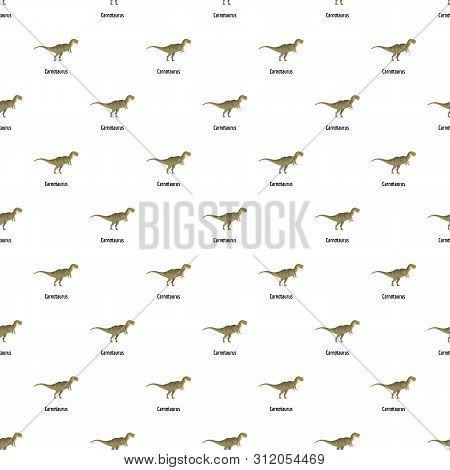 Carnotaurus Pattern Seamless Vector Repeat For Any Web Design