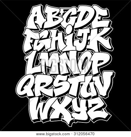 Old School Graffiti Alphabet Decorative Lettering Vandal Street Art Free Wild Style On The Wall City