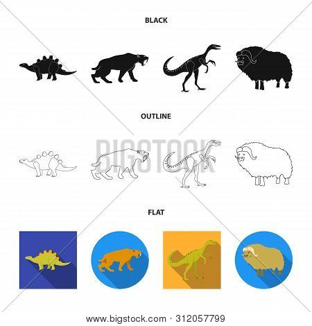 Vector Illustration Of Animal And Character Logo. Collection Of Animal And Ancient Stock Symbol For