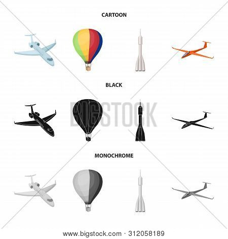 Vector Design Of Transport And Object Sign. Collection Of Transport And Gliding Vector Icon For Stoc