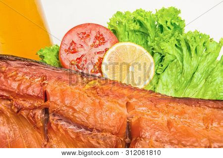 Smoked Salmon Carcass , Snack For Beer
