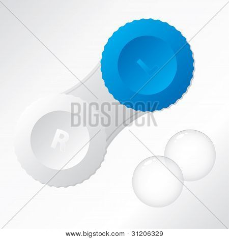 Contact Lenses With Container