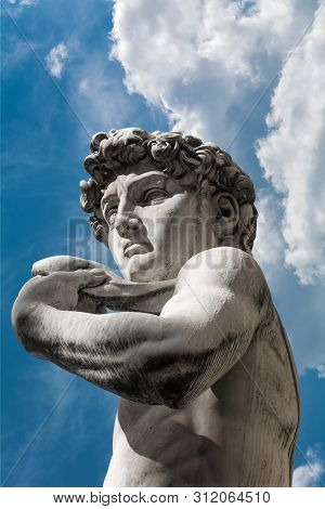 David By Michelangelo Copy Statue In Florence