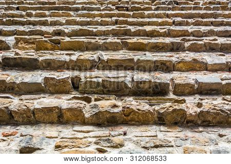 Background Texture Of Stone Wall, Castle Construction