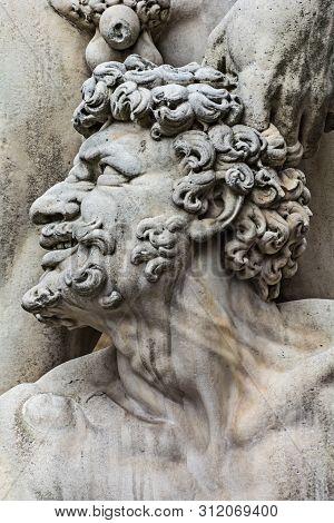 Statue Of Hercules. Hercules Kills The Fire Breathing Monster Cacus.