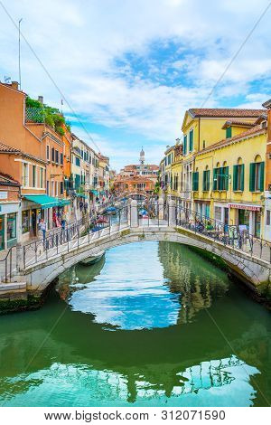 Rio Del Magazen,  Scenic View Of The Venetian Canal