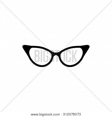 Eyeglasses Icon Vector Isolated On White Background. Eyeglasses Icon In Trendy Design Style For Web