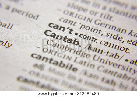 Word Or Phrase Cantab In A Dictionary