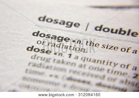 Word Or Phrase Dosage In A Dictionary