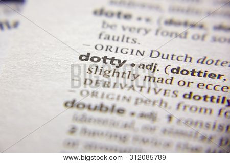 Word Or Phrase Dotty In A Dictionary