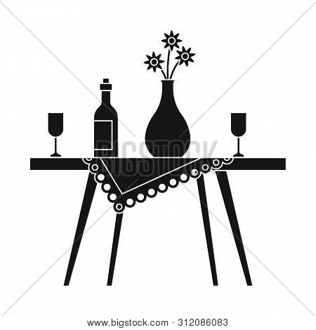 Vector Design Of Table And Vase Icon. Collection Of Table And Diner Stock Symbol For Web.