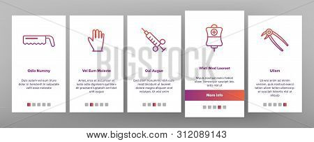 Operating Instruments Vector Onboarding Mobile App Page Screen. Operating Tools, Surgery Equipment Linear. Sterile Scalpel, Scissors, Grasping Forceps. Health Monitoring Equipment Illustration poster