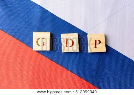 Concept Of Gross Domestic Product Or Gdp Of Yugoslavia, On Yugoslavia Flag.