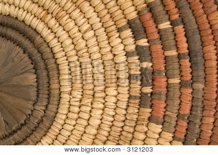 Closeup Of Indian Basket