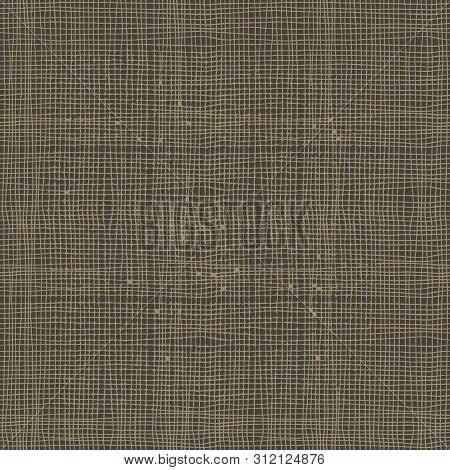 Burlap Texture Or Hessian. Seamless Vector Background.