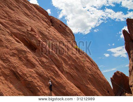 Rock Climbing In Garden Of The Gods Park