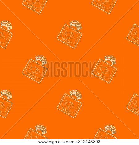Echo Sounder Pattern Vector Orange For Any Web Design Best