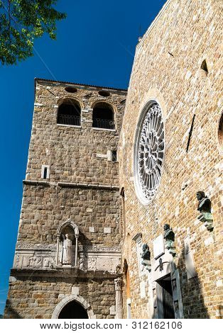 View Of Saint Justus Cathedral In Trieste, Italy