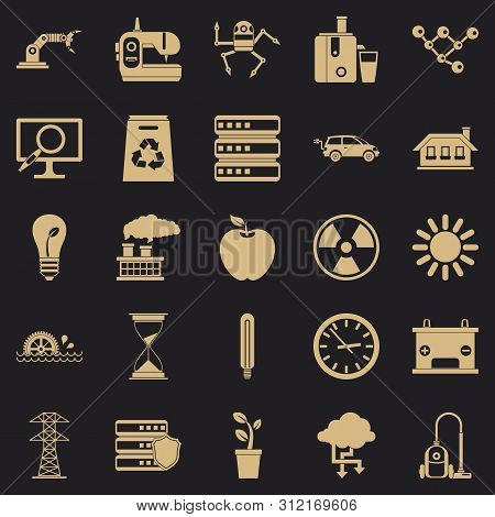 Compensator Icons Set. Simple Set Of 25 Compensator Icons For Web For Any Design