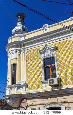Beautiful Old Building At Strada Bailor, Bailor Street Or Piata Cuza Voda, Cuza Voda Square In Aiud,