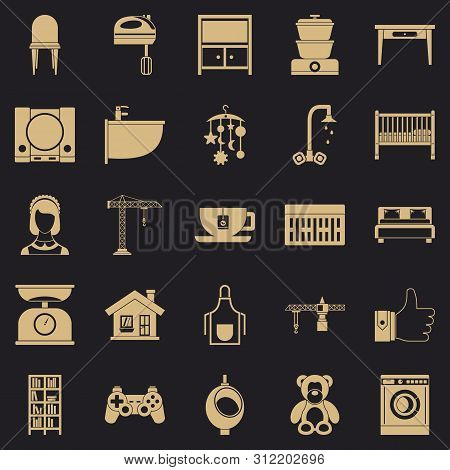 Teahouse Icons Set. Simple Set Of 25 Teahouse Icons For Web For Any Design